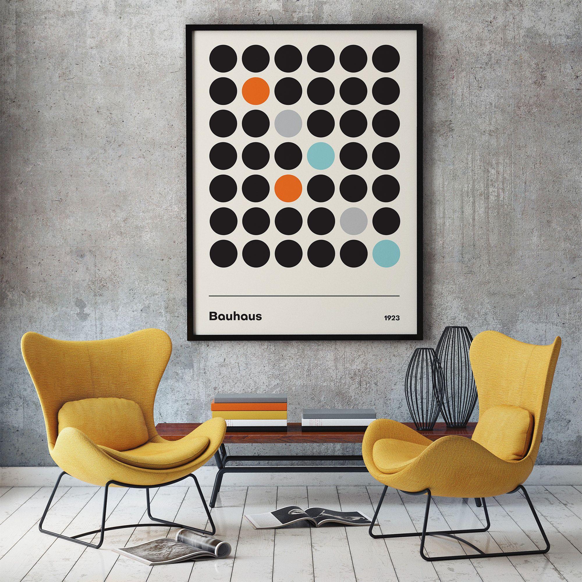 Bauhaus poster print framed or unframed style