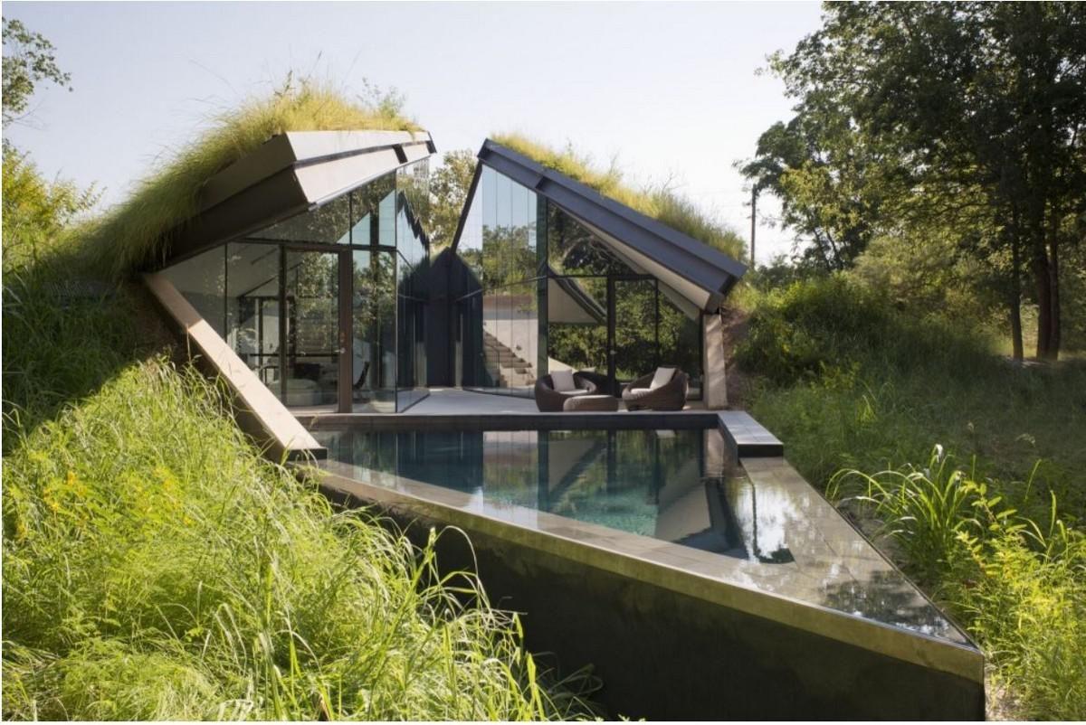 Βυθισμένη στο τοπίο: Κατοικία Edgeland House - Bercy Chen Studio