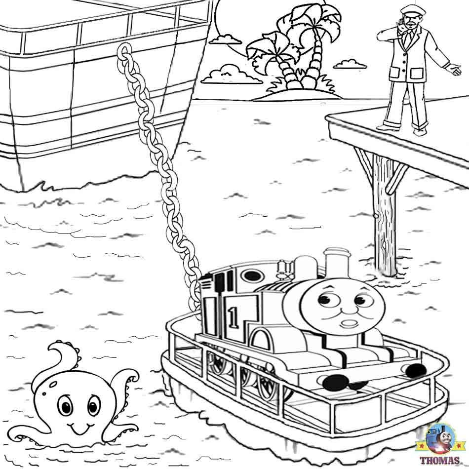 Rescue Thomas The Train Coloring Pages In The Sea · Thomas The ...
