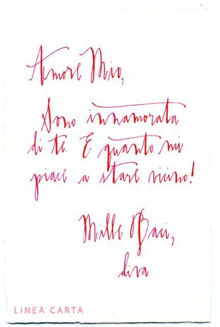 custom calligraphy love letter by Linea Carta | Whimsical Writing ...