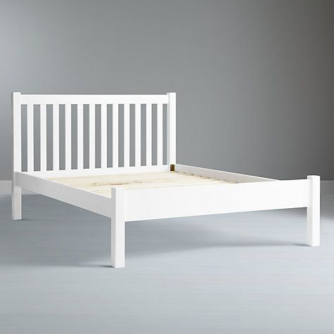 John Lewis Wilton Bed Frame, King Size, White | Bed frame double ...