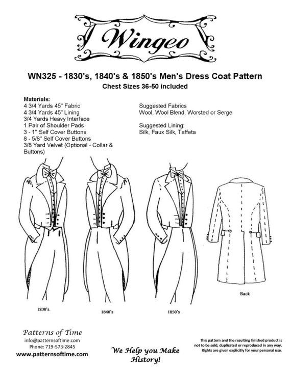 WN325 - Western/Victorian Era 1830's, 1840's, and 1850's