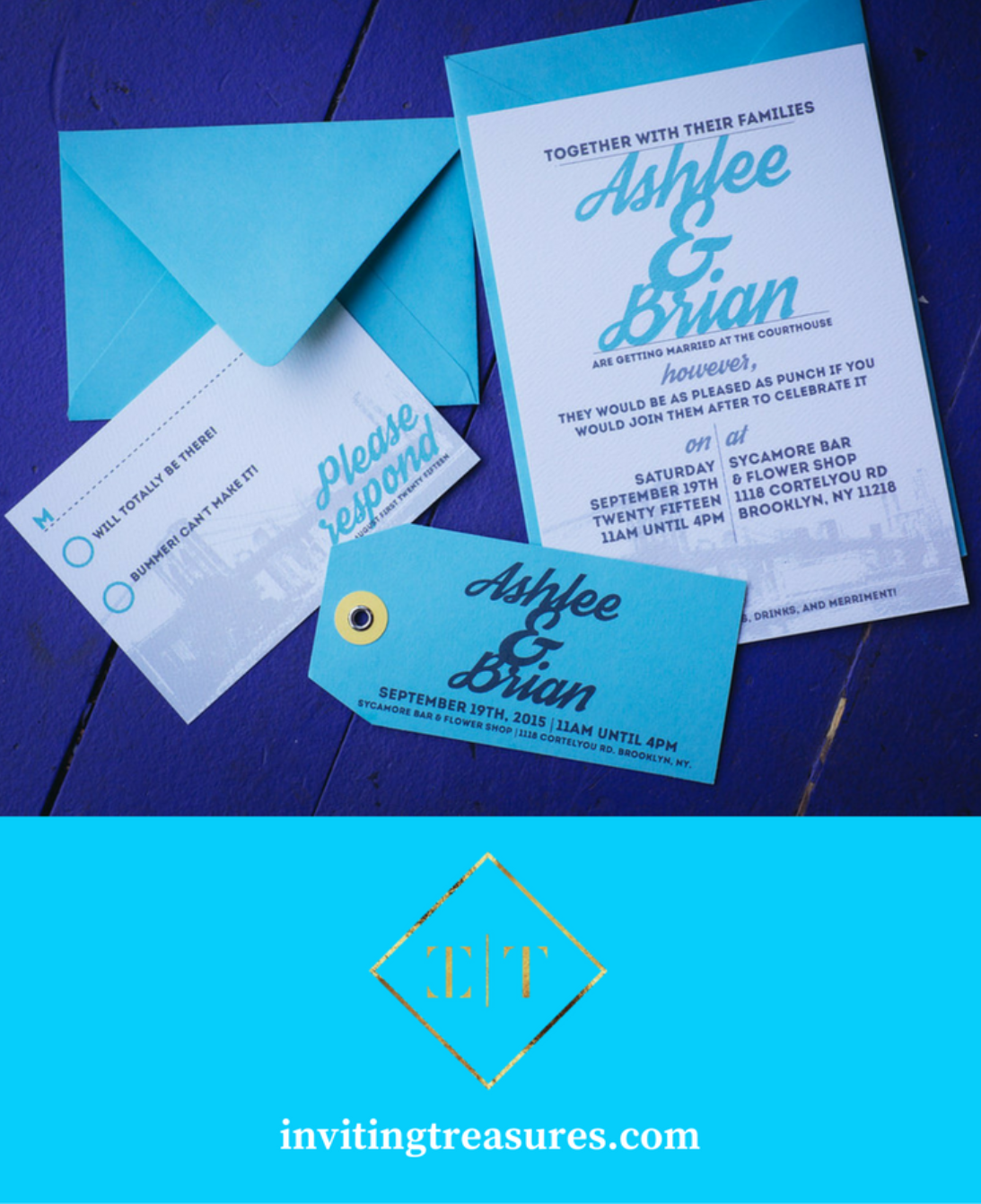 Teal and navy wedding invitations | teal wedding color palette ...