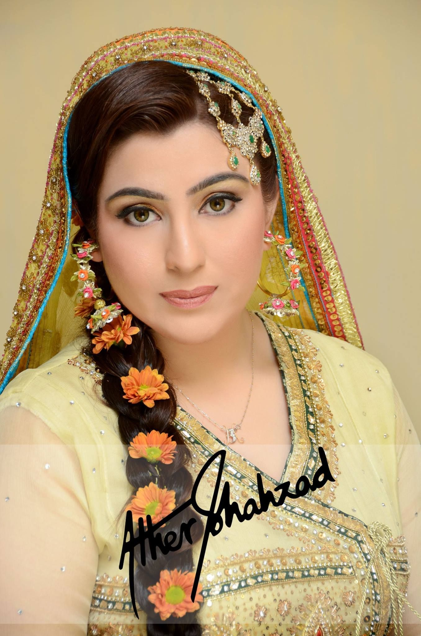 Mehndi Bride Makeup : Mehndi bride makeup and photography by ather shahzad