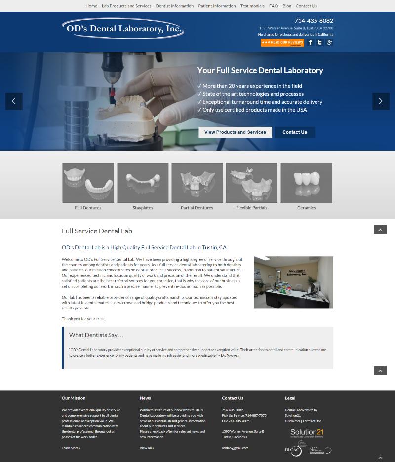 Portfolio - Dental Lab Website Design lovingly crafted by ...