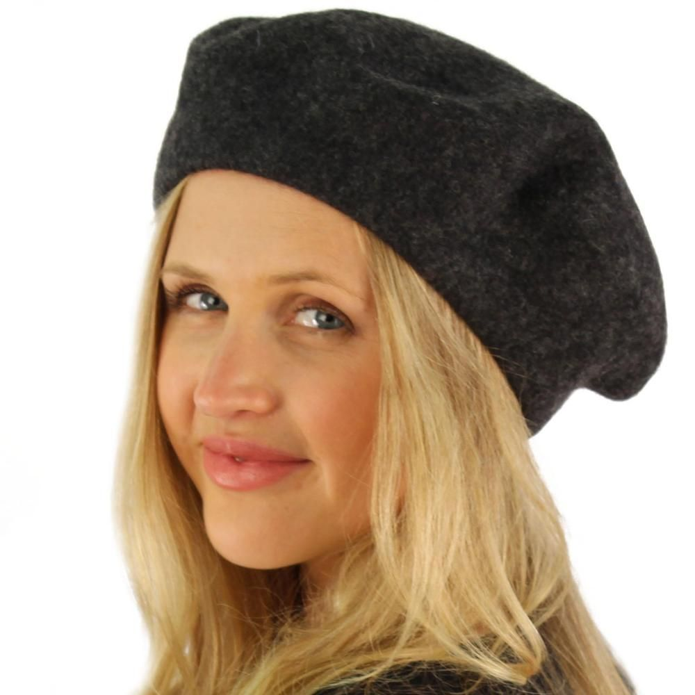 325450e7c Classic Winter 100% Wool Warm French Basque Beret Tam Beanie Hat Cap ...