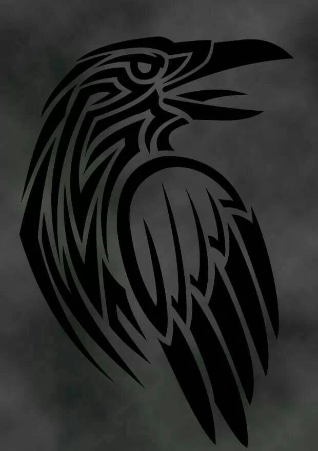 Raven Viking Tattoo: Raven Art, Raven Tattoo, Norse Tattoo