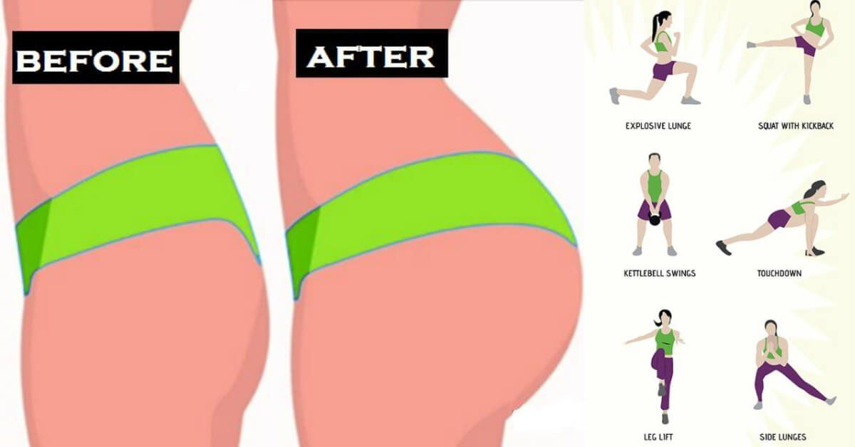 Glutes Workout & Exercises for Women - 20 Butt Lift Exercises For Brazilian Butt - GymGuider.com