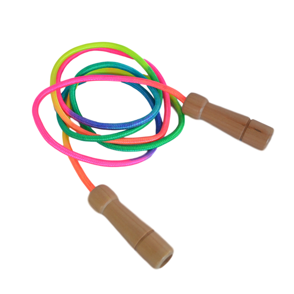 Pink Handle Adjustable Jump Rope for Kids and Adults Outdoor Fun Activity