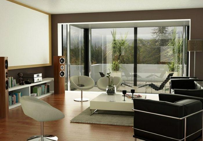 Wohnzimmer in Braun \u2013 60 Möglichkeiten, wie Sie ein braunes