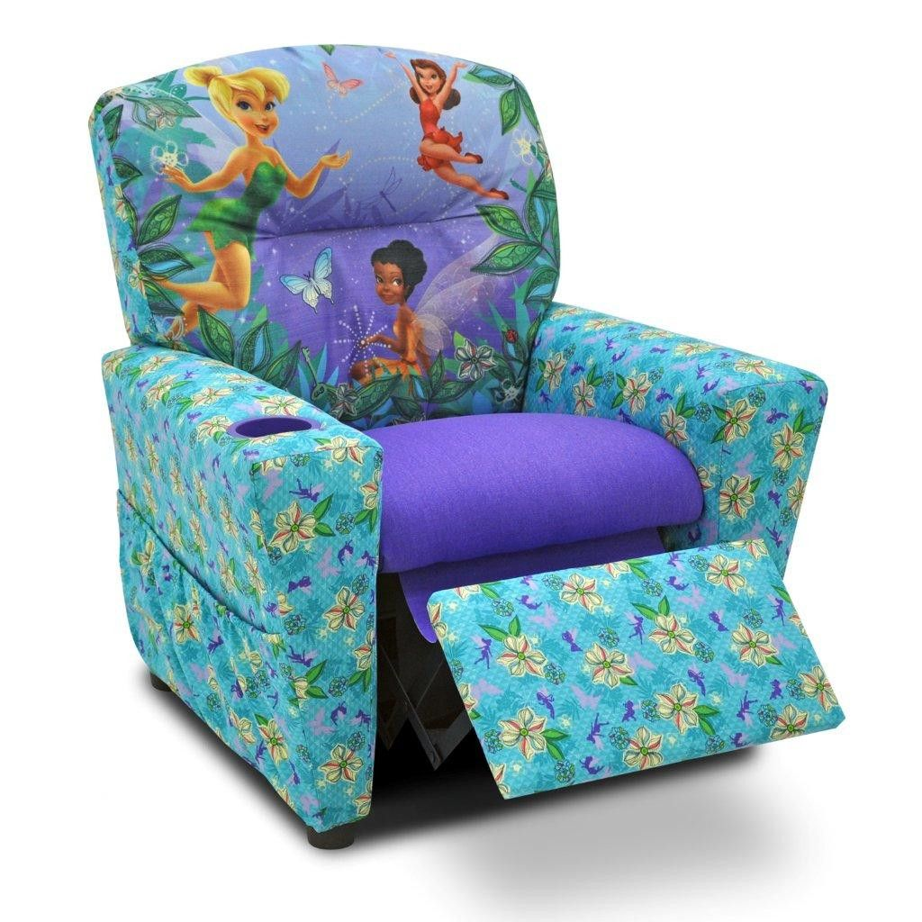 Disney S Fairies Kids Chair With Cup Holder Childrens Recliner