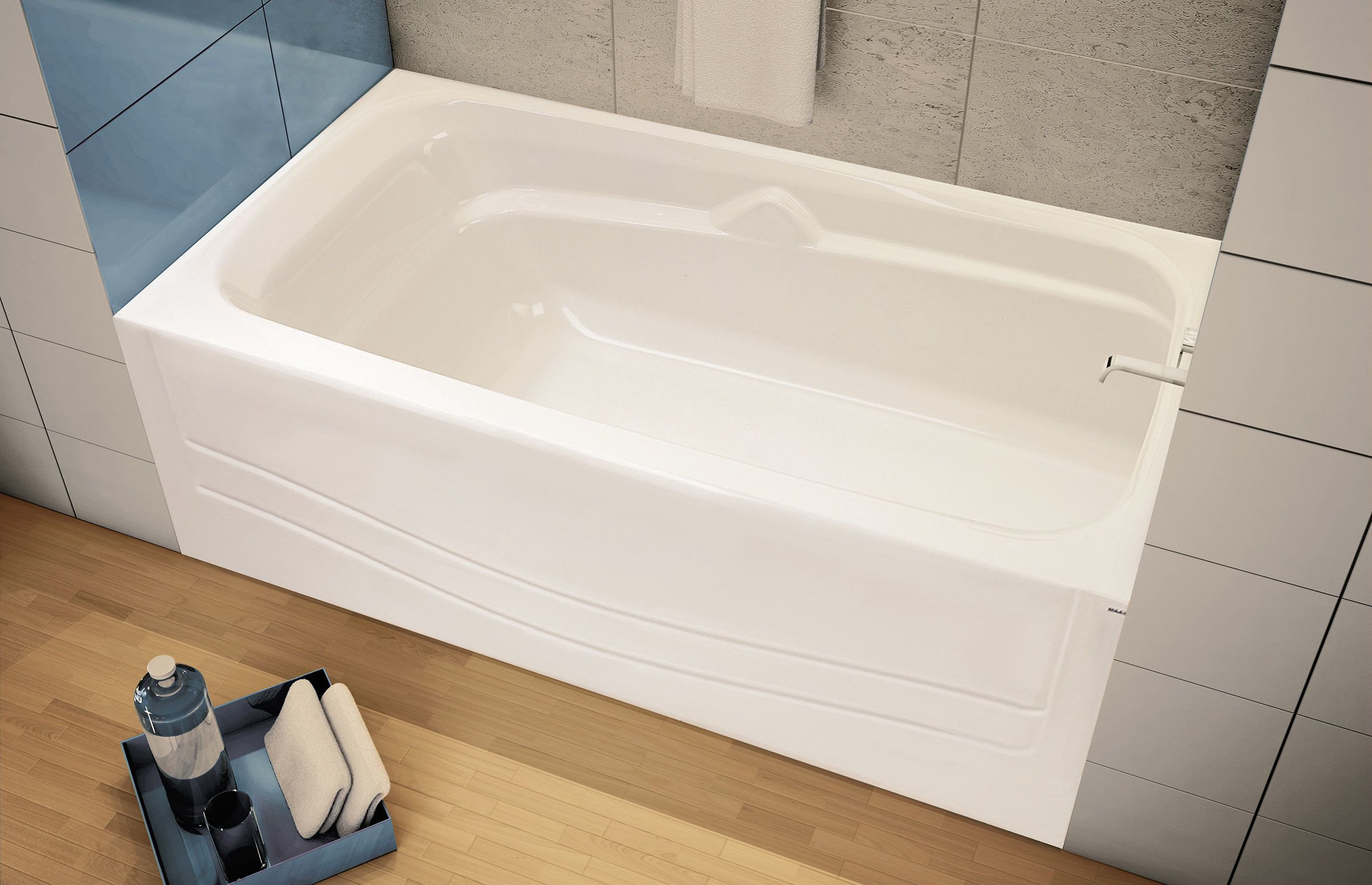 Avenue Alcove Bathtub Maax Professional 60x30x21 Tiny