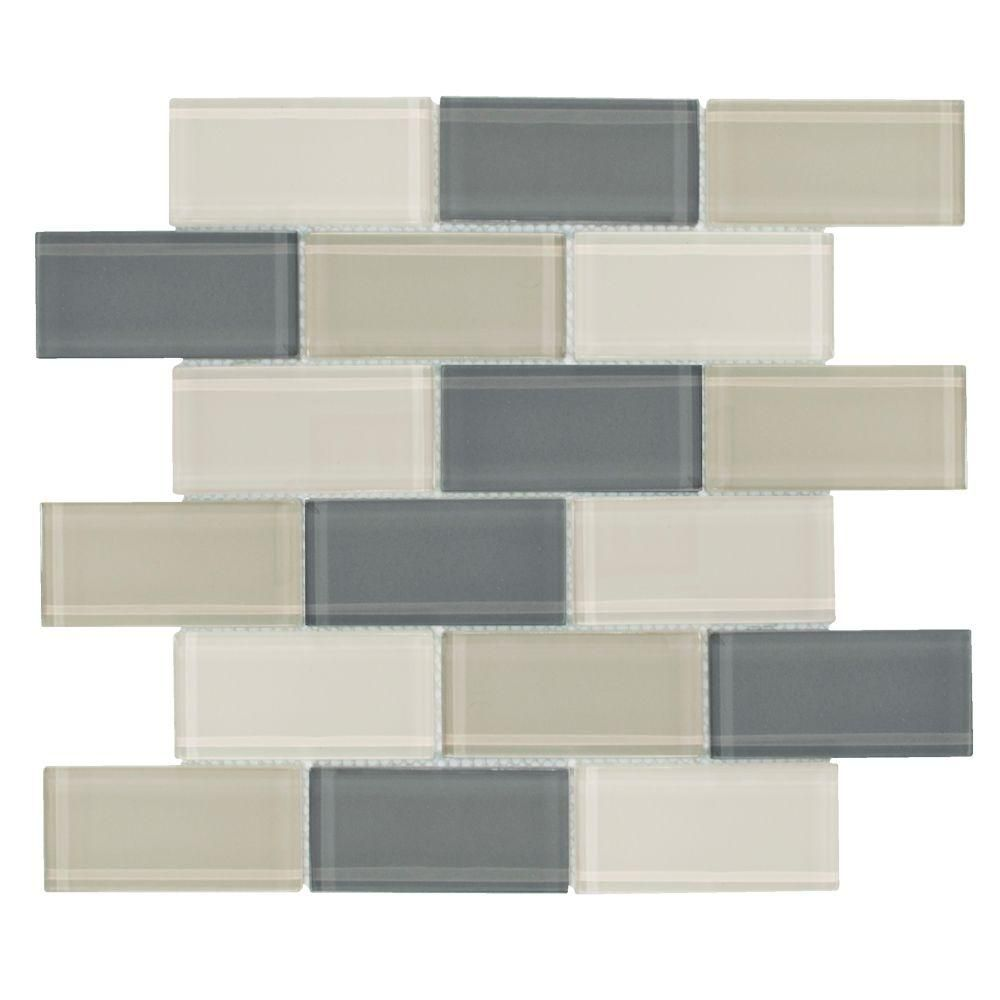 Delighted 18X18 Ceramic Tile Tall 2 By 4 Ceiling Tiles Regular 2X4 Suspended Ceiling Tiles 3X3 Ceramic Tile Old 3X6 Travertine Subway Tile Backsplash Blue3X6 White Subway Tile Bullnose Jeffrey Court Rocky Canyon 12 In. X 12 In. 8 Mm Glass Mosaic Wall ..