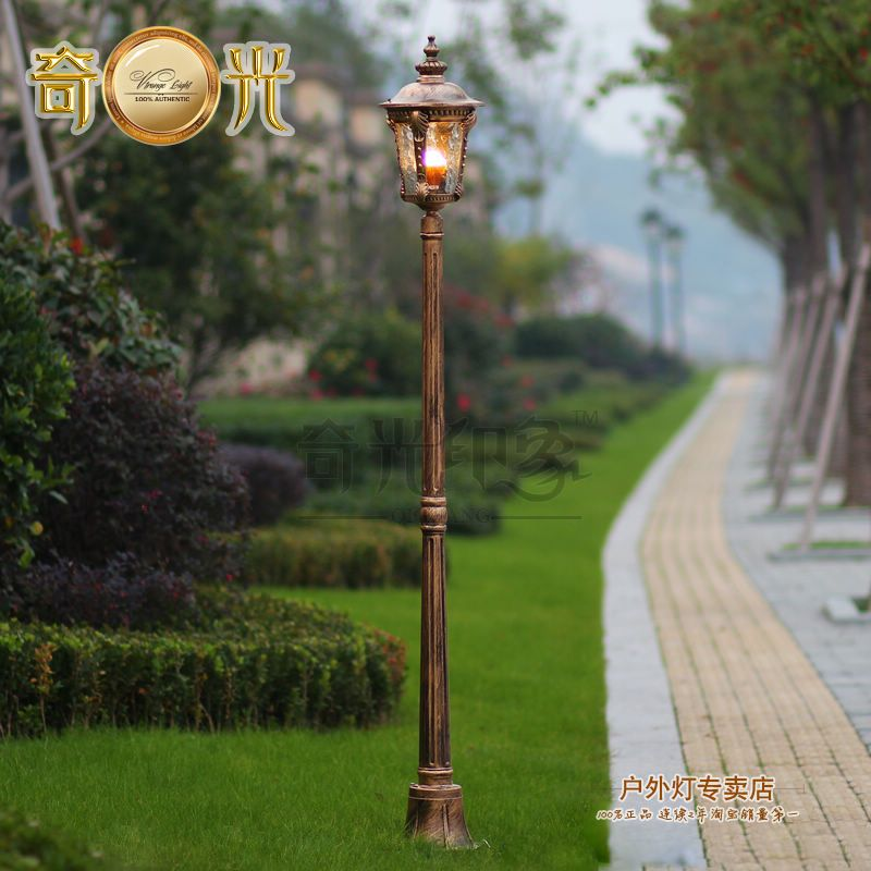 High Pole Garden Light Post Vintage Outdoor Street Lamp 220v Spot Exterieur Led Jardin Aluminum Made Bronze Outdoor Post Lights Post Lights Outdoor Lamp Posts