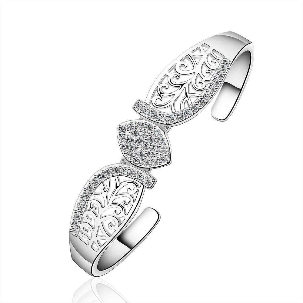 Click to buy ucuc womenus white gold color circle open bracelet