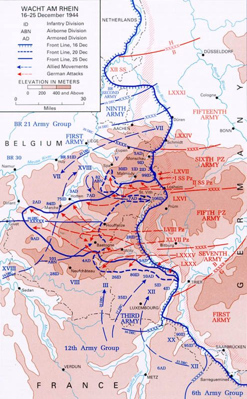 Map Map showing German gains during first days of the Battle of