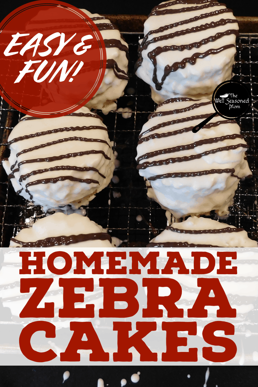 Copycat Zebra Cakes Trounce Original The Well Seasoned Mom Recipe In 2020 Zebra Cake Hostess Cakes Fun Desserts