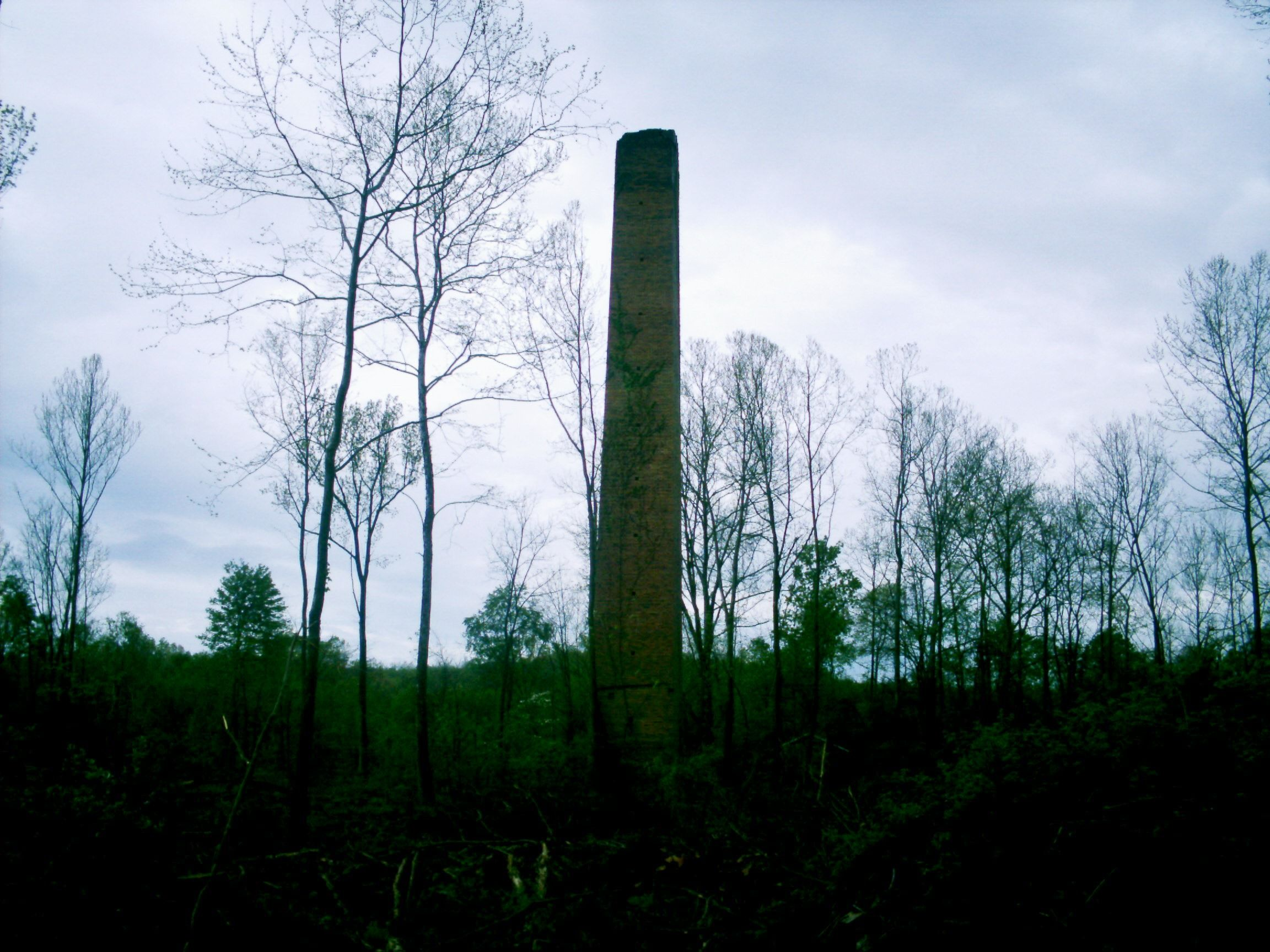 Puritan, OH (Vinton County) - Another smoke stack in the brick yard complex. This was the tallest one.