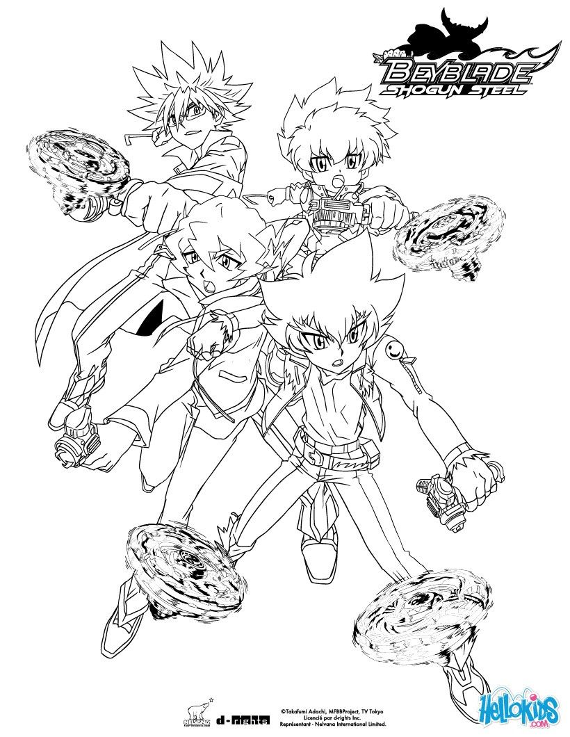 beyblade team coloring page. more beyblade content on
