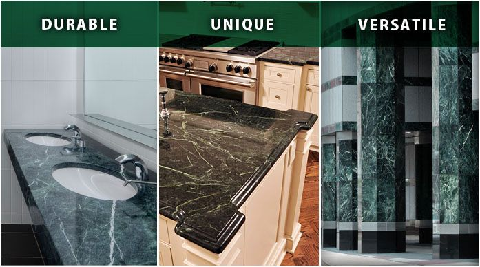 Vermont Verde Antique Serpentine Stone Is Green, Harder Than Granite, More  Beautiful Than Marble. Perfect For Kitchen Countertops, And Commercial  Interiors ...