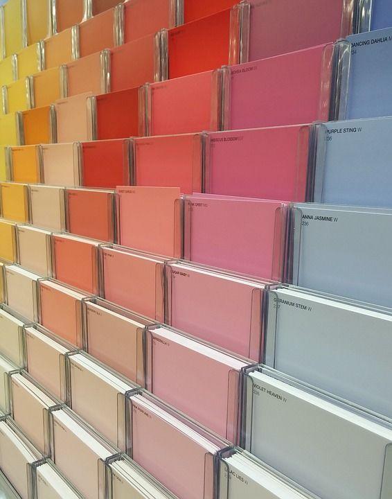 Vibrant Colour Hues Design 2 Pb Painting Over Wallpaper