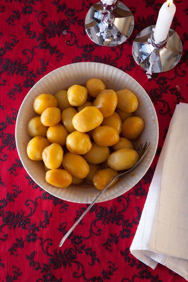 Caramel-Glazed Potatoes (Brúnaðar Kartöflur) Recipe | SAVEUR