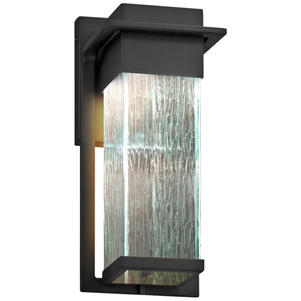 Fusion pacific 12 high rain glass black led outdoor wall light fusion pacific 12 high rain glass black led outdoor wall light style 37f40 arubaitofo Image collections