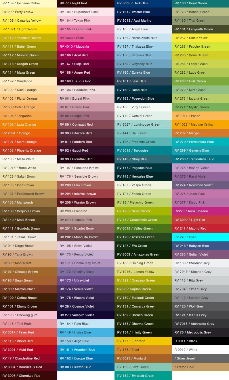 Montana 94 Spray Paint Colors Chart Home Design Paint Color Chart Spray Paint Colors Color Palette Challenge