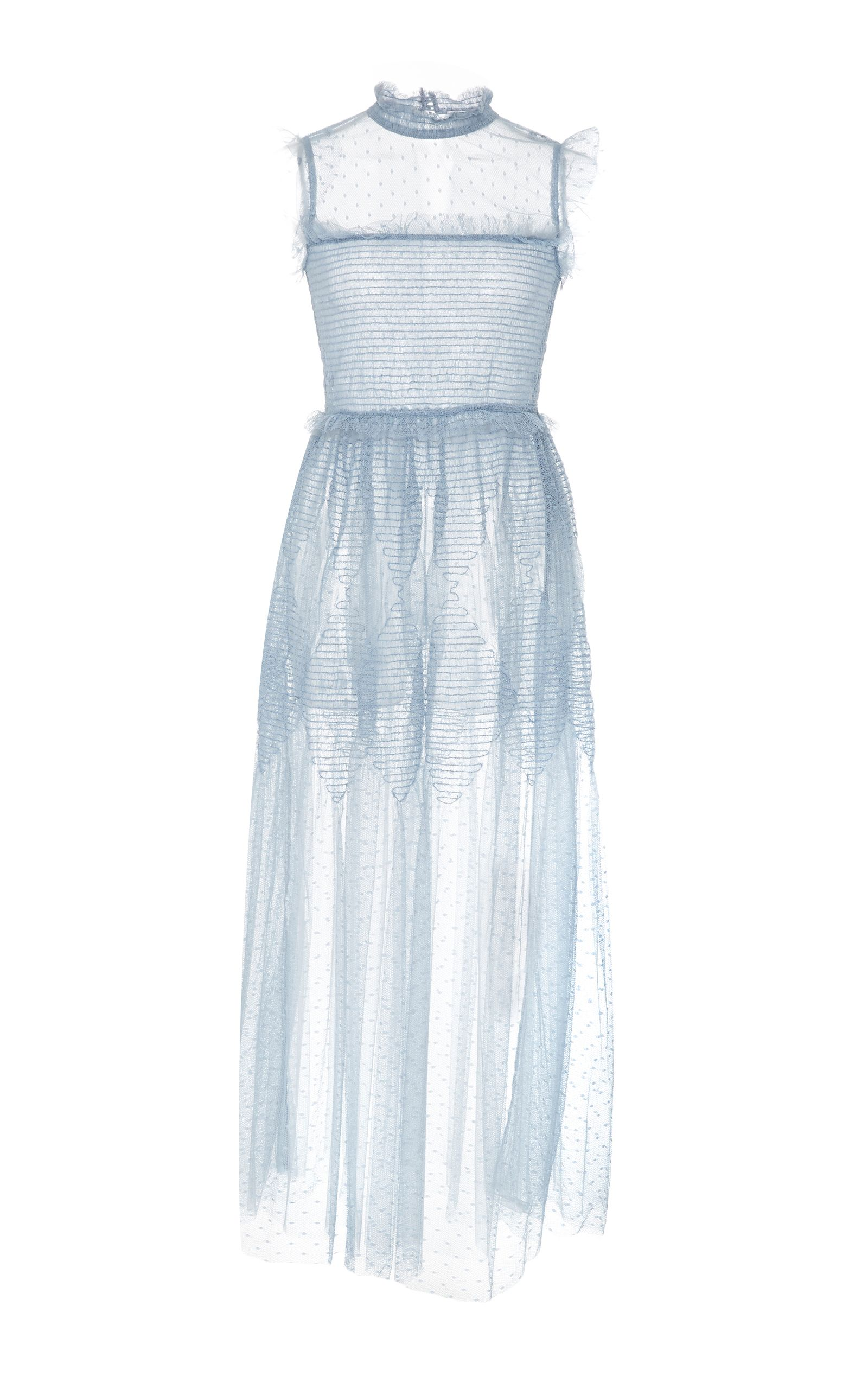1a05eccd Sheer Tulle Embroidered Midi Dress by RED VALENTINO for Preorder on Moda  Operandi