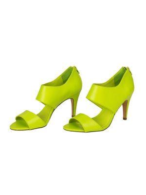 escarpins vert de c