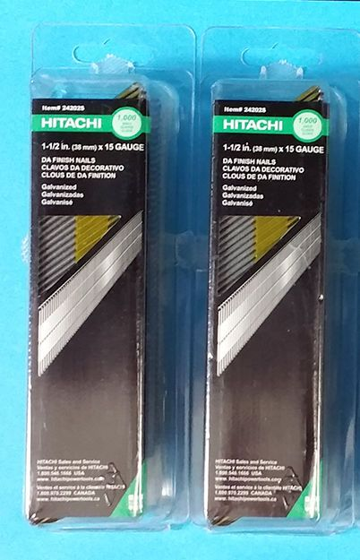 Hitachi 1 1 2 15 Gauge Angled Da Finish Nail 2 Boxes Of 1000 Each 24202s Hitachifasteners With Images Hitachi It Is Finished Gauges