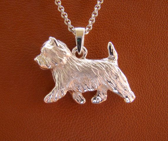 Small Sterling Silver Cairn Terrier Pendant Cairn Terrier