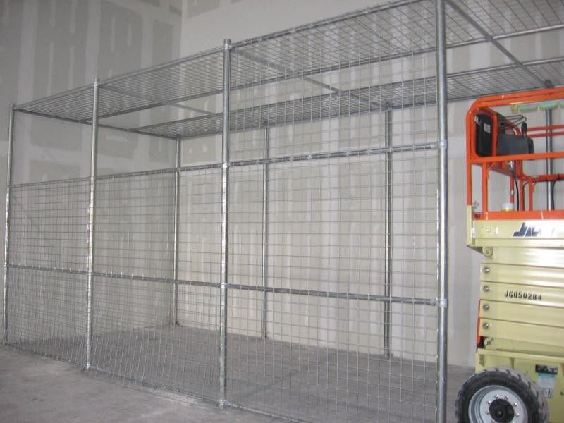 Welded wire warehouse storage cage | Brick lane Eatery ...