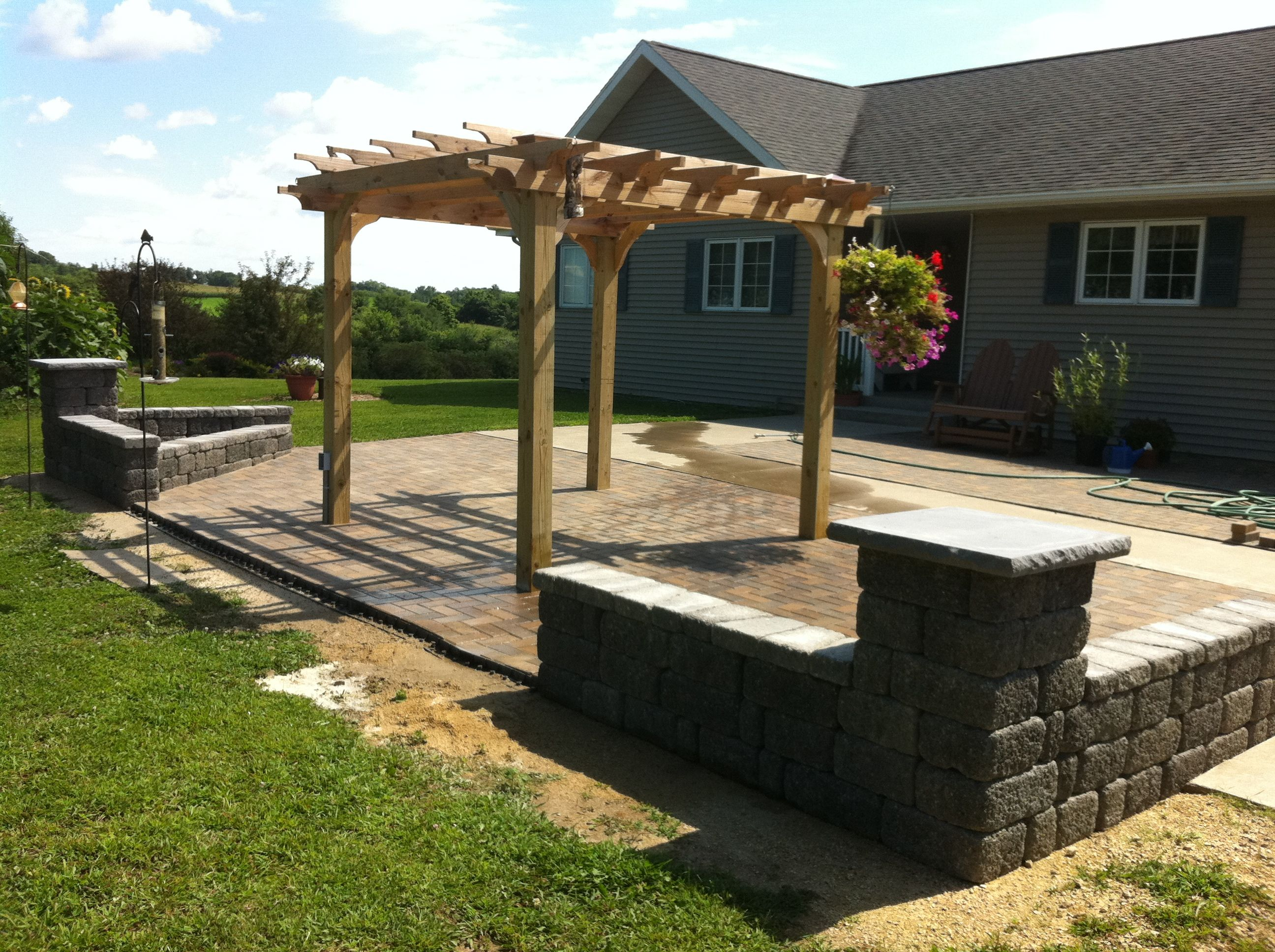 Pergola, Patio And Freestanding Walls