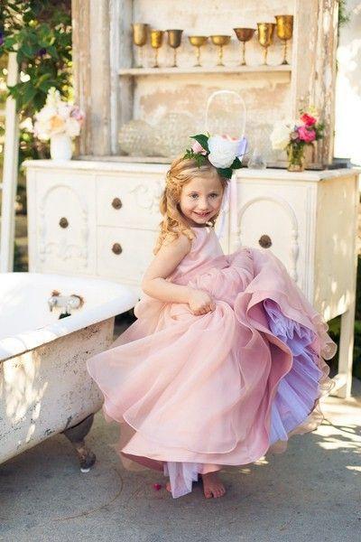Formal Jewel Floor-length A-line Bowknot Tulle Sleeveless Flower Girl Dresses