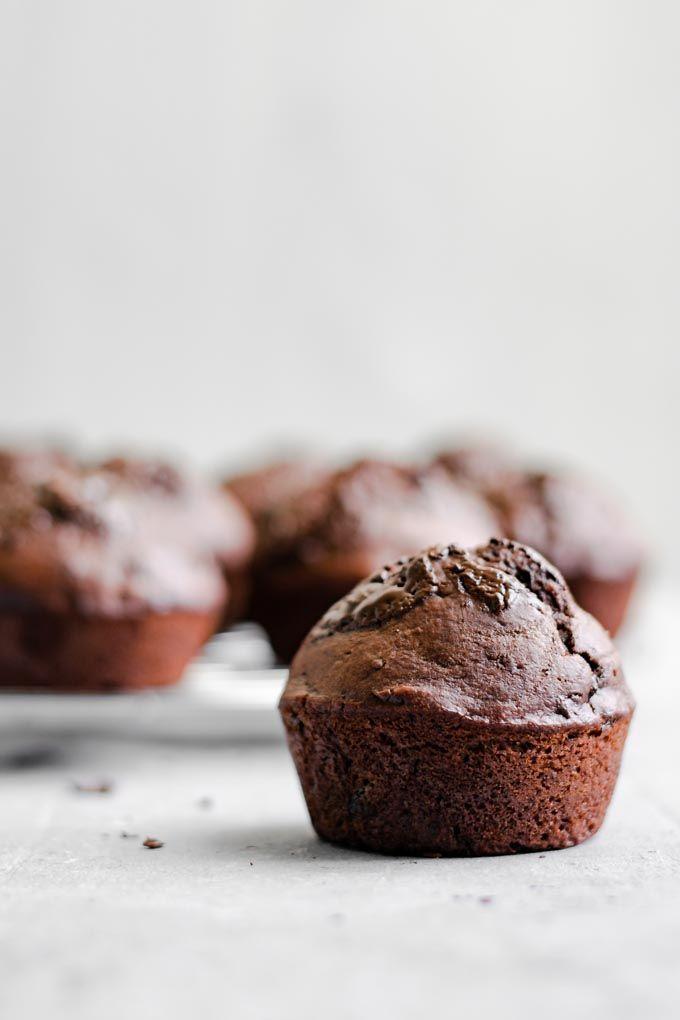 Vegan Double Chocolate Banana Muffins Vegan double chocolate banana muffin