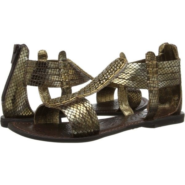 Rebels Orion Women's Sandals, Gold (70 AUD) ❤ liked on Polyvore featuring shoes, sandals, gold, strappy sandals, gold strappy sandals, strap sandals, beaded sandals and gold sparkle shoes