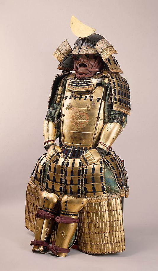 Armor (Gusoku)- Inscribed by Yukinoshita Sadaiyé  (Japanese, active 17th century) Date: 17th century Culture: Japanese Medium: Iron, lacquer, silk, gilt copper