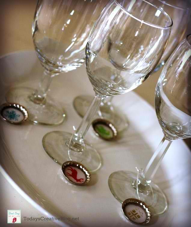 Easy Handmade Gift Idea - DIY Drink Markers · Jillee