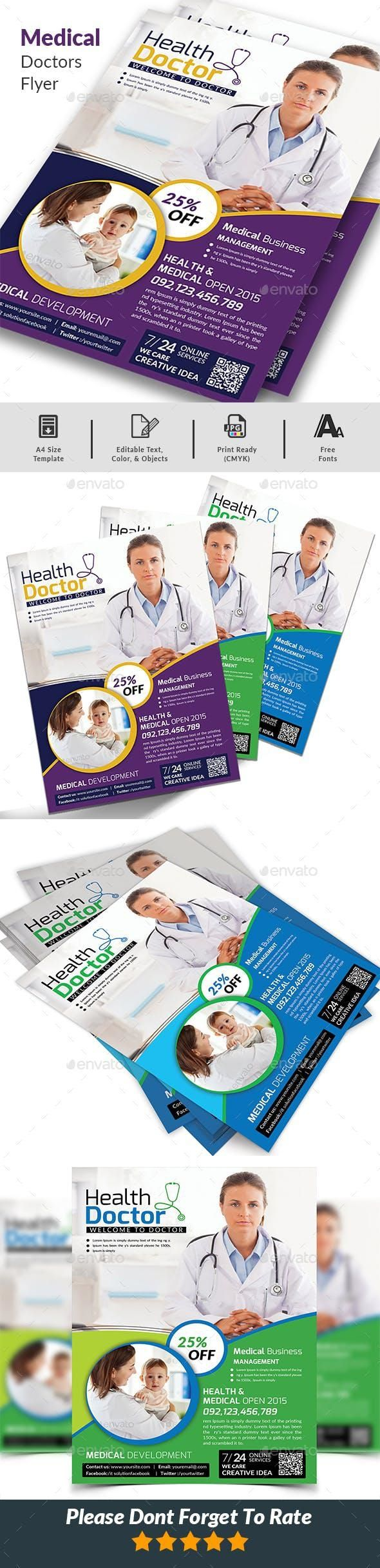 Doctors Flyer Flyer, Business flyer templates, Corporate