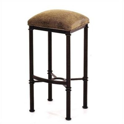 Tempo Counter Stool Backless 26 Hermosa Nickel Wwhite 26h 145d