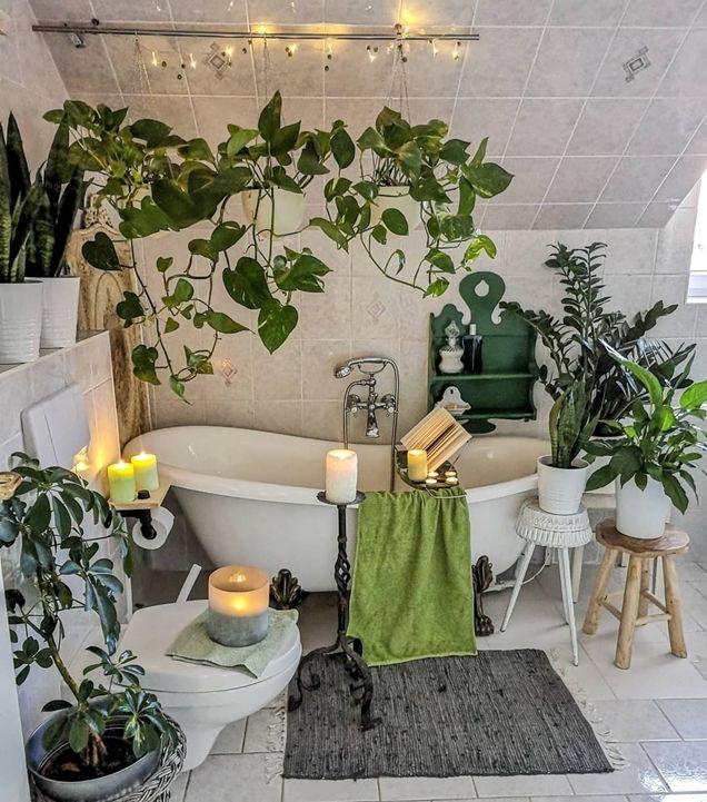8 maneras de incorporar plantas en el baño | Plantas en el ...