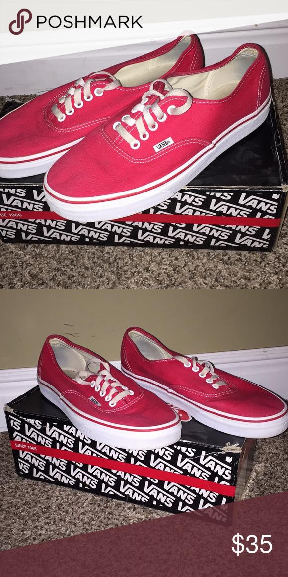Red Vans | Vans, Red vans, Shoe laces