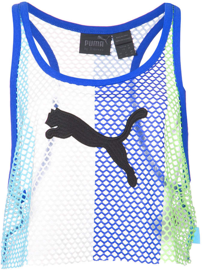 575144076a7 FENTY PUMA by Rihanna mesh cropped tank top | Products | Athletic ...