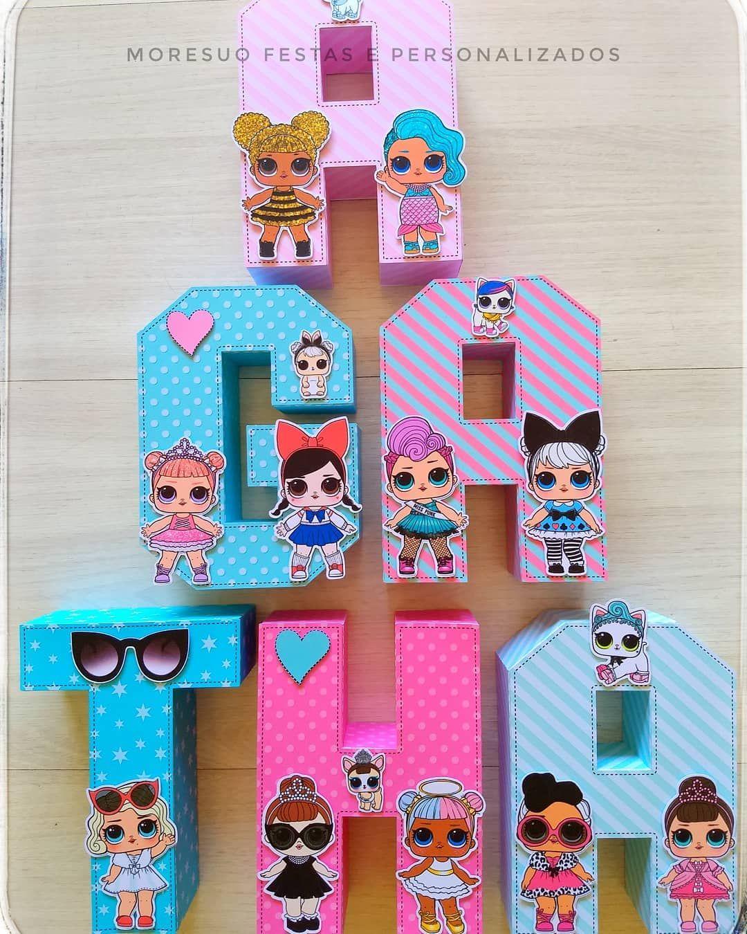 Lol Surprise Moresuo Festapersonalizada Lolsurprise Festalol Letras3d Lol Dolls Doll Party Lol