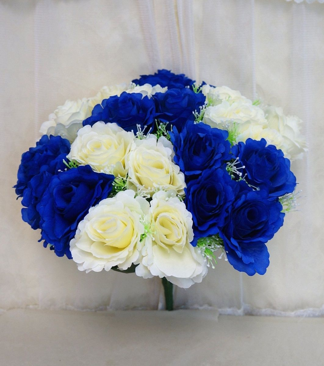 Blue and white carnations wedding bouquet places to visit blue and white carnations wedding bouquet dhlflorist Image collections