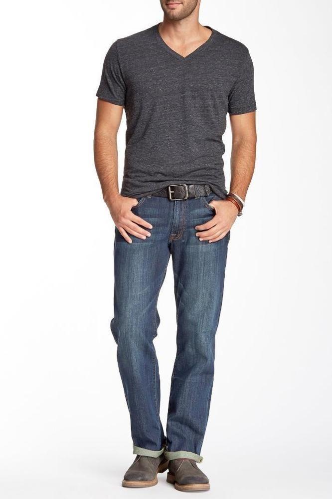 Men Lucky Brand Vintage Straight Jeans Dark Wash Whisking Stretch sz 38 X 31 #LuckyBrand #ClassicStraightLeg