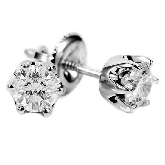 Tiffany And Co Diamond Stud Earrings