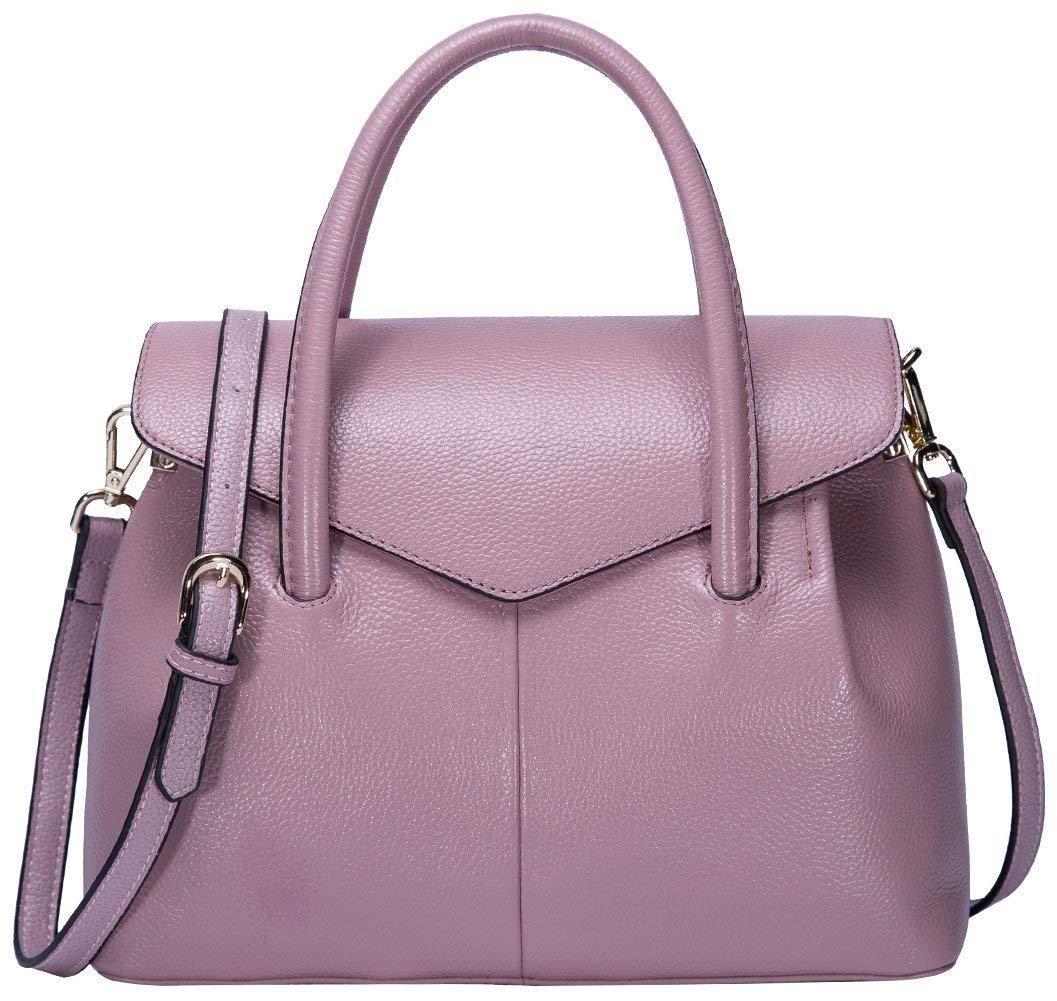 2bc7f399053b BOYATU Real Leather Handbag for Women Elegant Business Satchel Top Handle  Bag