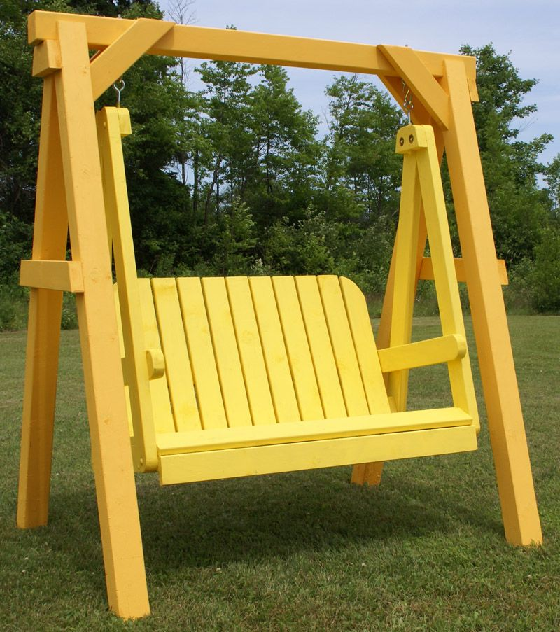 Free standing porch swing yard swing plans yard garden - Backyard swing plans photos ...